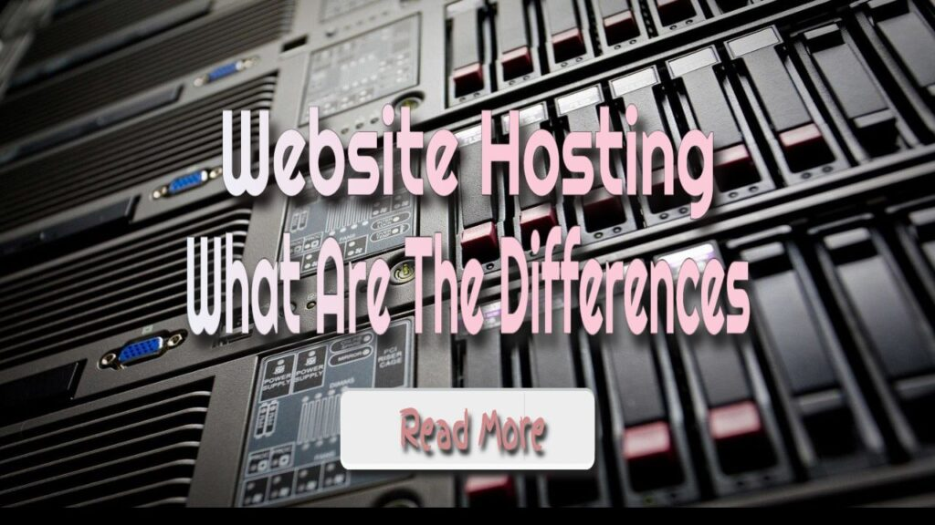web hosting what are the differences